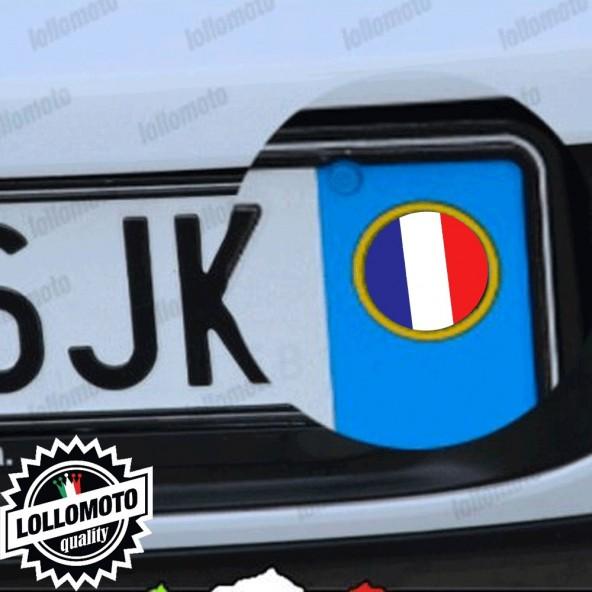 2x Adesivi Logo Bandiera Francia Per Renault Targa Auto