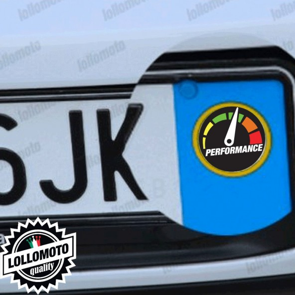 2x Adesivi Logo Performance per Skoda Targa Auto Stickers Decal