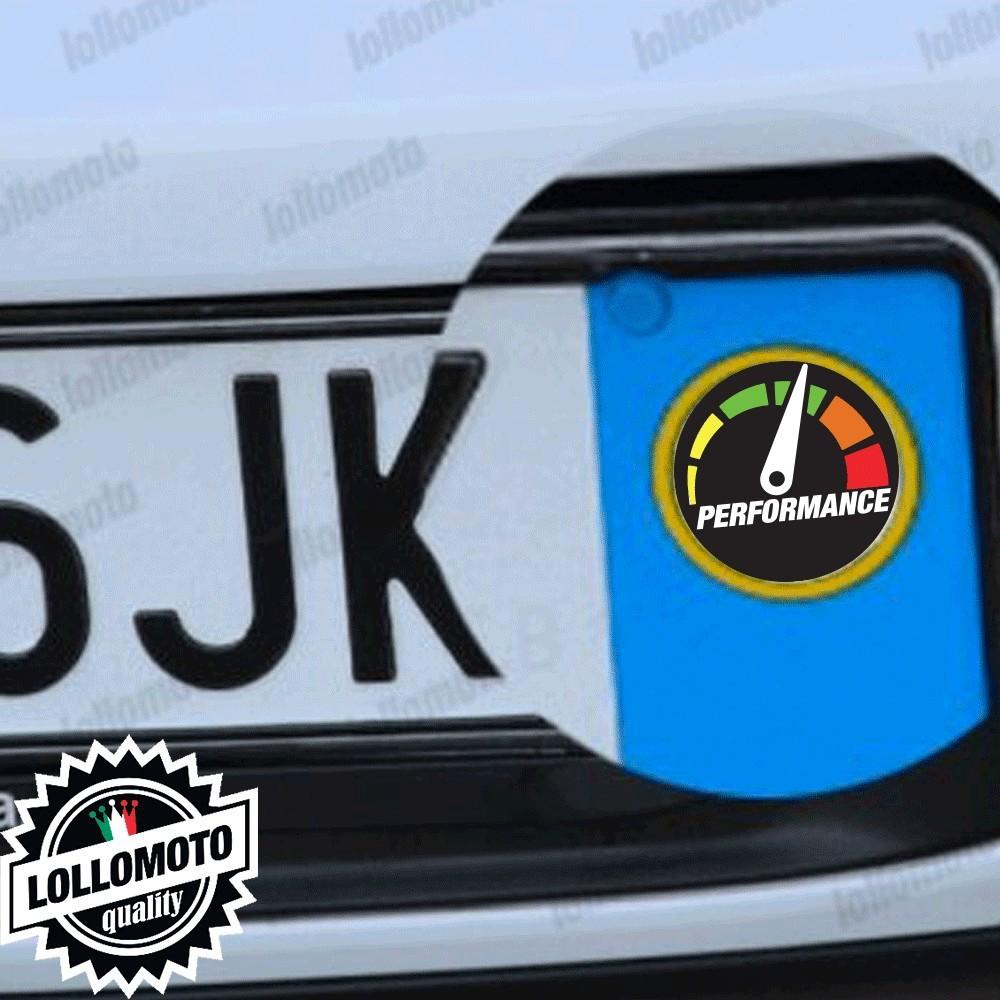 2x Adesivi Logo Performance per Skoda Targa Auto Stickers Decal