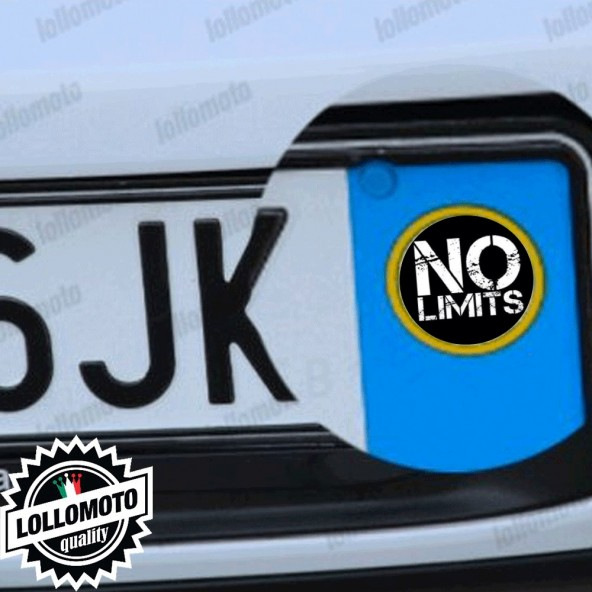 2x Adesivi No Limits Logo Targa per Suzuki Auto Stickers Decal