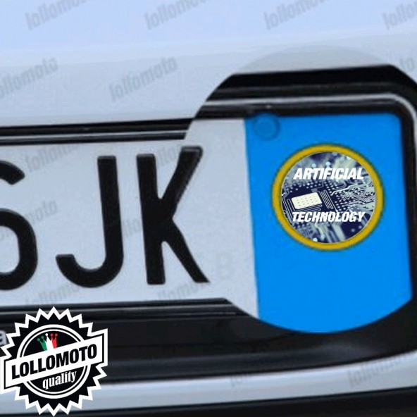 2x Artificial Technology Adesivi Logo Emblema per Targa Honda