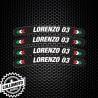 Kit 4pz Adesivi Cerchi Moto Nome Personalizzato Racing Stickers