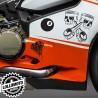Kit 3 Adesivi Misti Stickers Carene Moto Decal Pista Intagliati