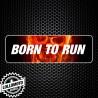 Adesivo Born To Run Moto Terminale Scarico Stickers Adesivi