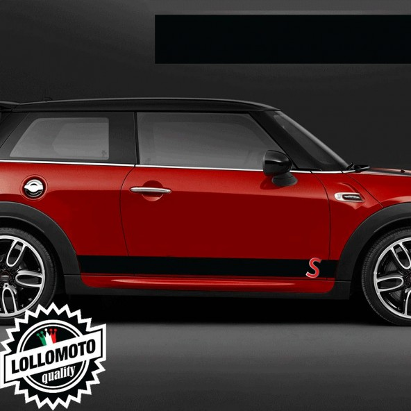 Kit Strisce Laterali Adesive Mini Bonnet S Bande Tuning Decal Stickers