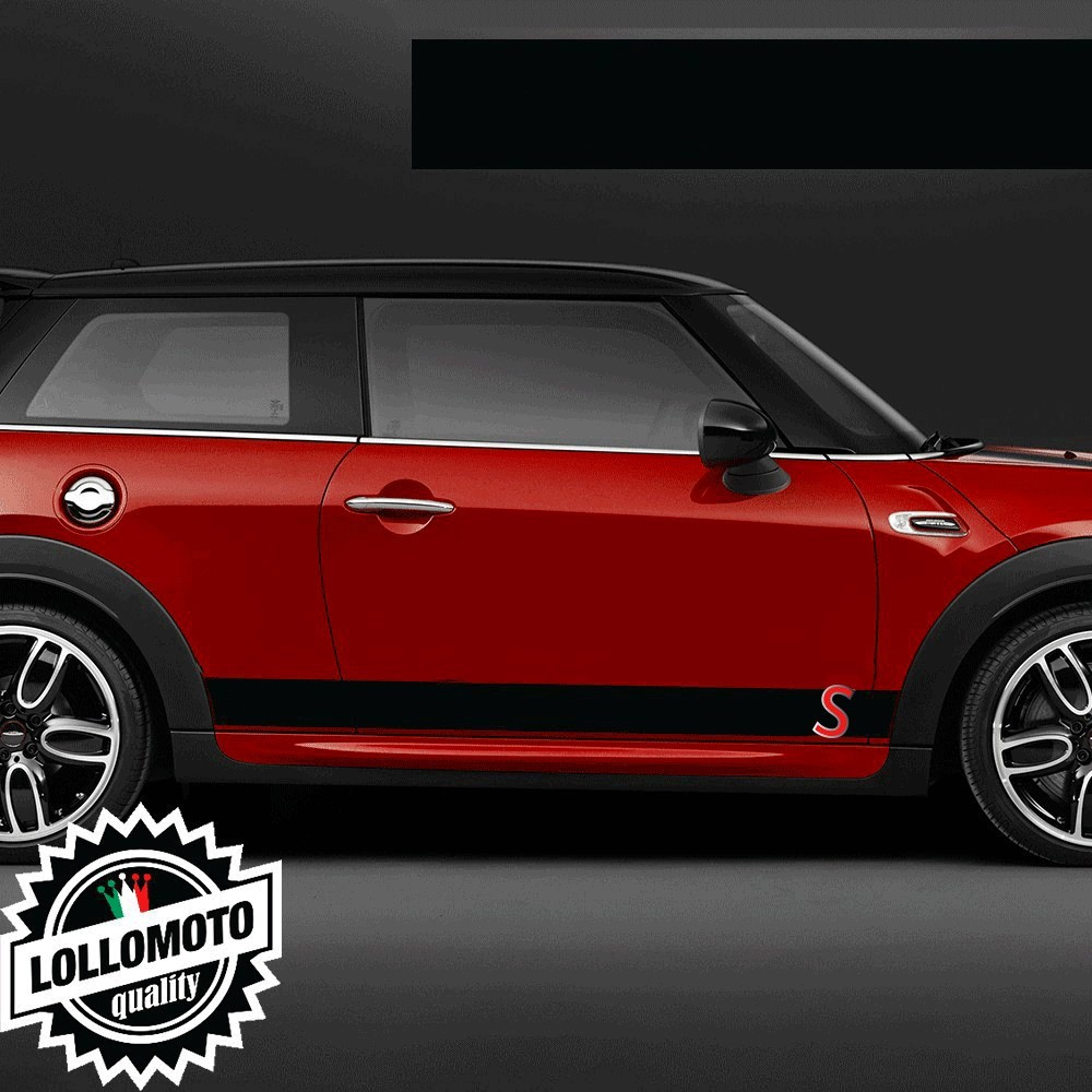 Kit Strisce Laterali Adesive Mini Bonnet S Bande Tuning Decal