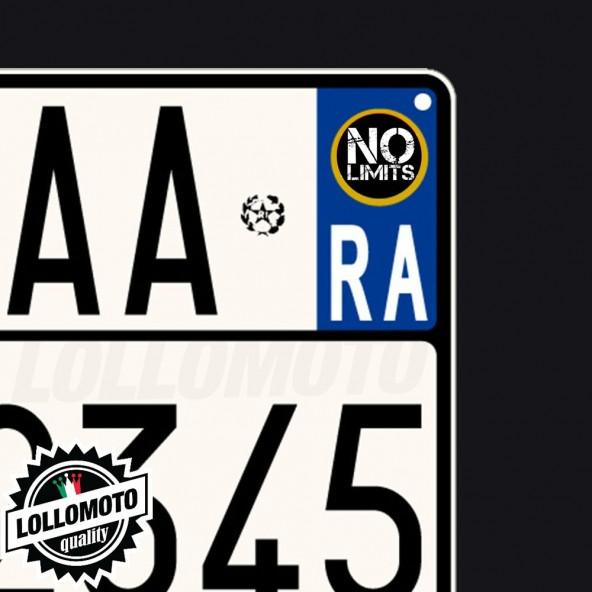 2x Adesivi No Limits per Malaguti Logo Emblema Targa Moto Stickers Decal