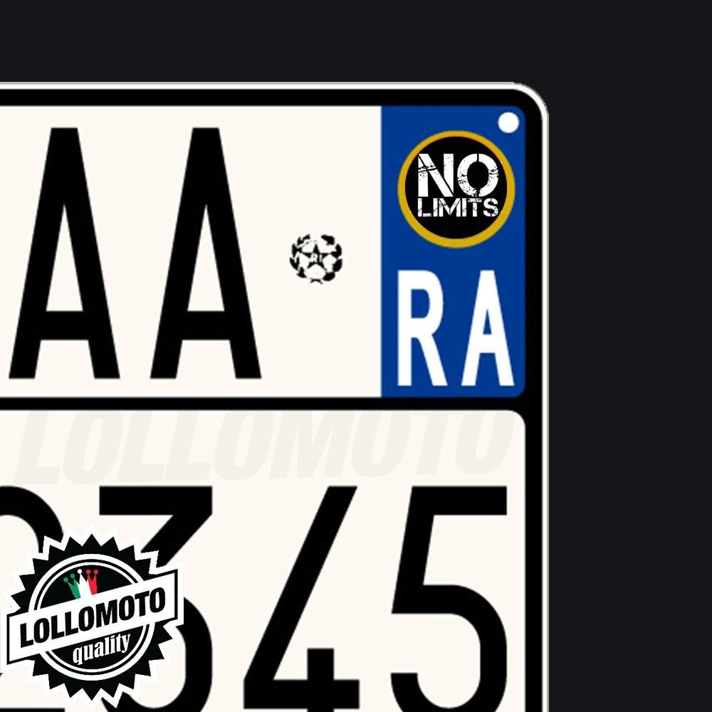 2x Adesivi Targa No Limits per Triumph Moto Stickers Decal