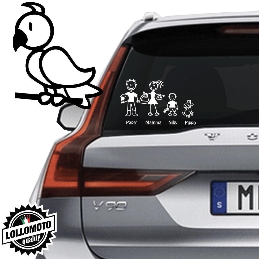 Uccellino Vetro Auto Famiglia StickersFamily Stickers Family