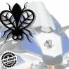 2x Adesivo Mosca Moto Stickers Moscerino Intagliato Auto e Moto