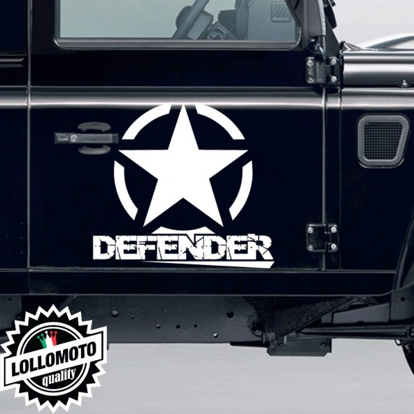 2x Stella Fuoristrada Defender Land Rover Adesive Off Road