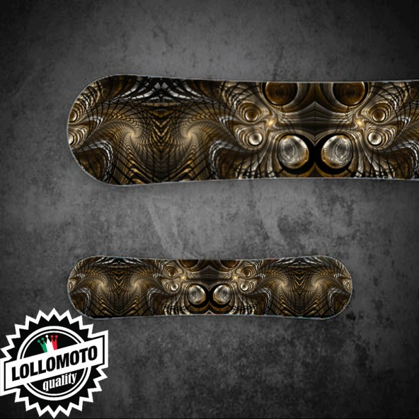Adesivo Tavola Snowboard Metal Abstract Personalizzata Wrapping