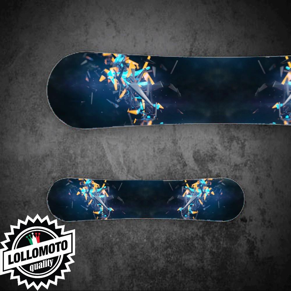 Adesivo Tavola Snowboard Triangle Explosion Personalizzata