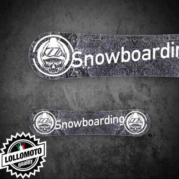 Adesivo Tavola Snowboard Draw Snowboarding Personalizzata