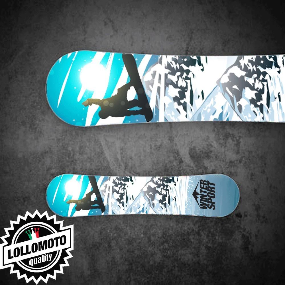 Adesivo Tavola Snowboard Sky Winter Sport Personalizzata