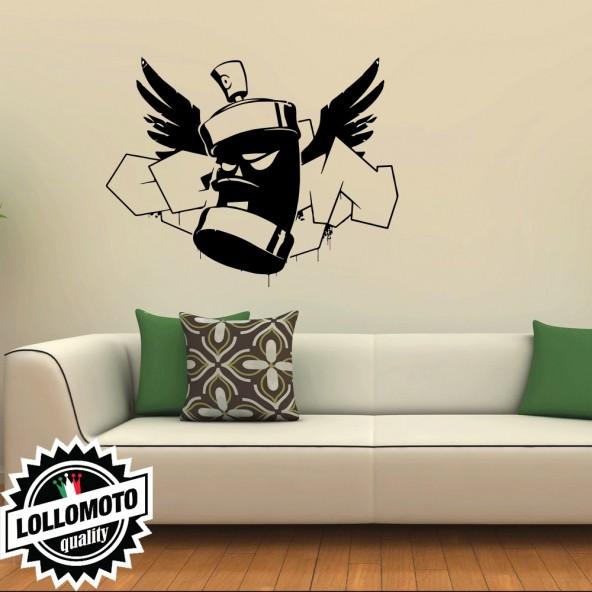 Adesivo Murale Bomboletta Murales Wall Stickers Arredamento da Muro Interior Design