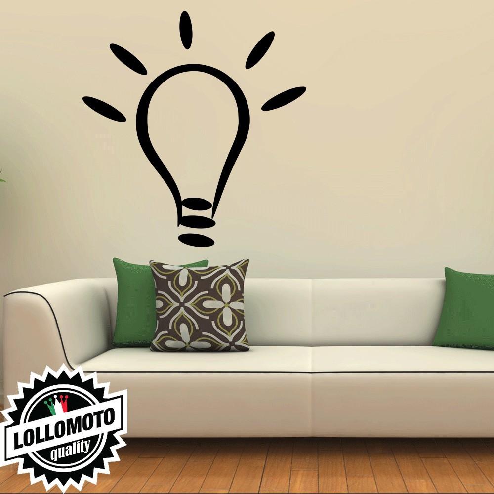Adesivo Murale Lampadina Idea Wall Stickers Arredamento da Muro