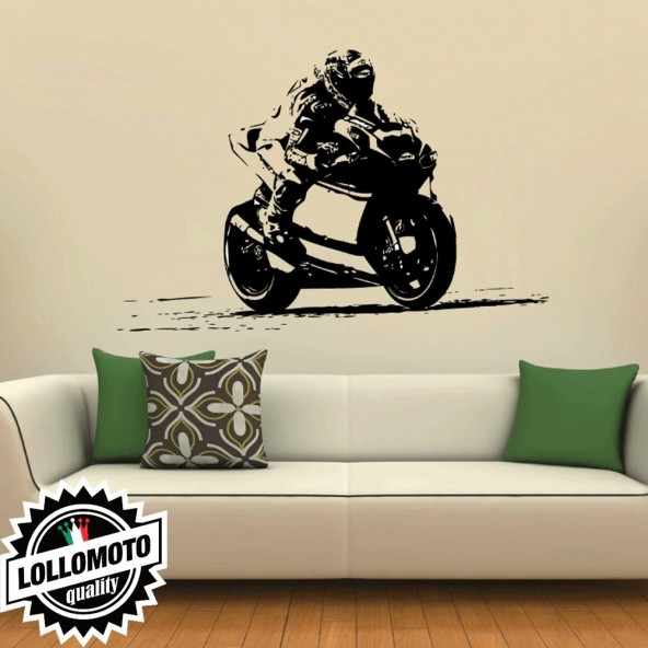 Dovizioso Andrea Ducati Racer Wall Stickers Adesivo Murale Arredamento da Muro Interior Design