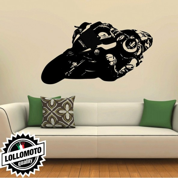 Jorge Lorenzo Yamaha Wall Stickers Adesivo Murale Arredamento da Muro Interior Design