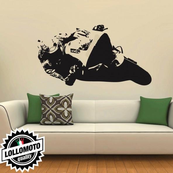 Daniel Pedrosa Honda Wall Stickers Adesivo Murale Arredamento da Muro Interior Design