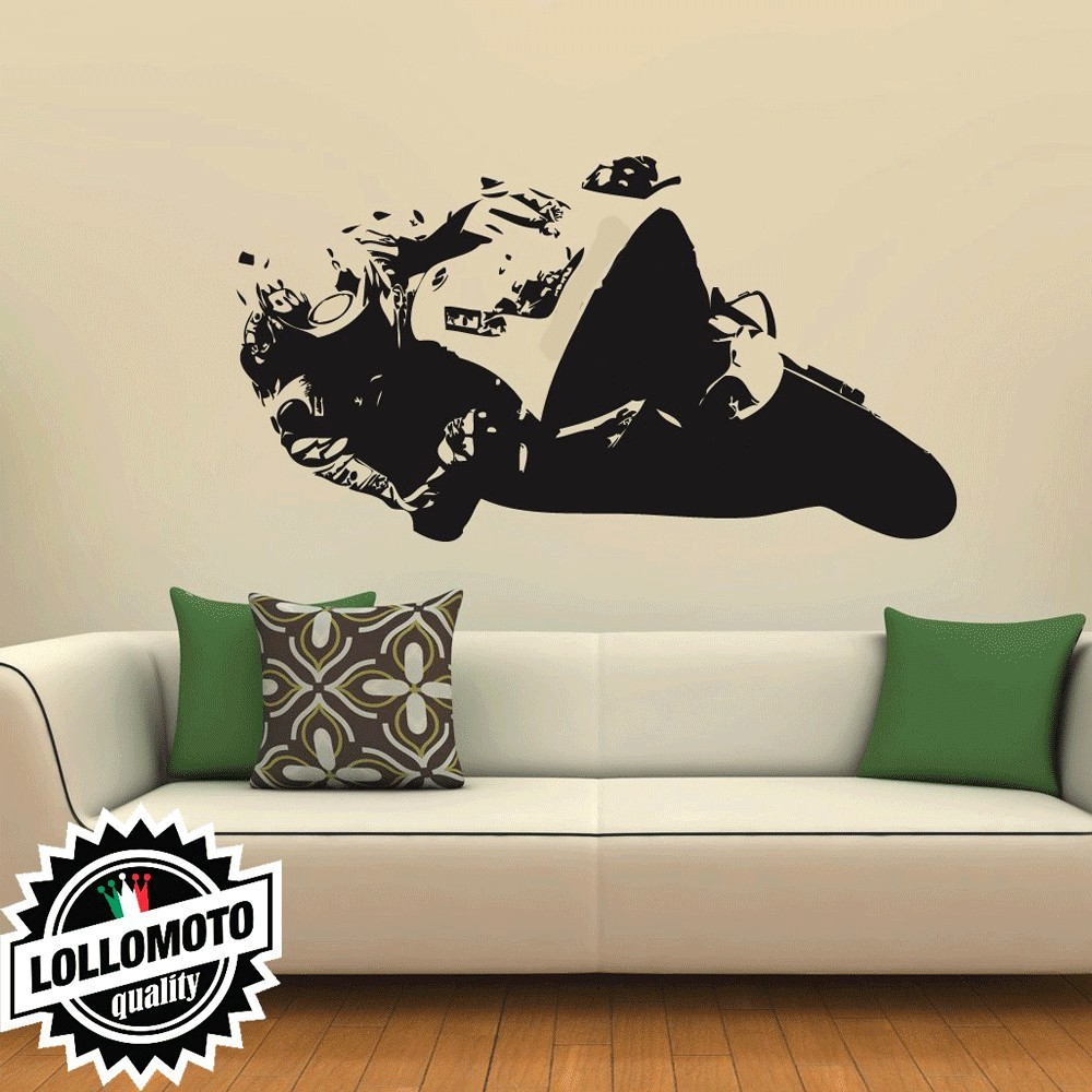 Daniel Pedrosa Honda Wall Stickers Adesivo Murale Arredamento