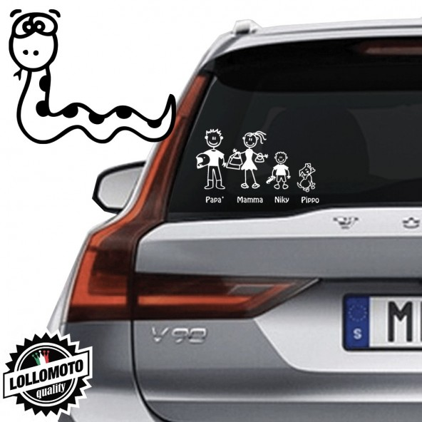 Serpente Vetro Auto Famiglia StickersFamily Stickers Family Decal