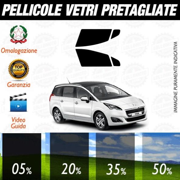 Peugeot 5008 09-16 Pellicole Oscuramento Vetri ANTERIORI Auto