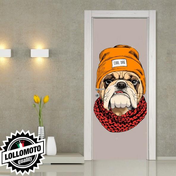 Adesivo Per Porta Bull Dog Cane Dog Rivestimento Pellicola