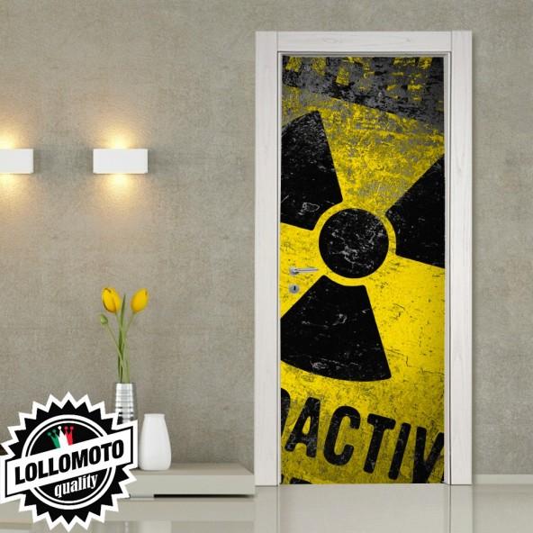 Adesivo Per Porta Radioactive Danger Pellicola Adesiva