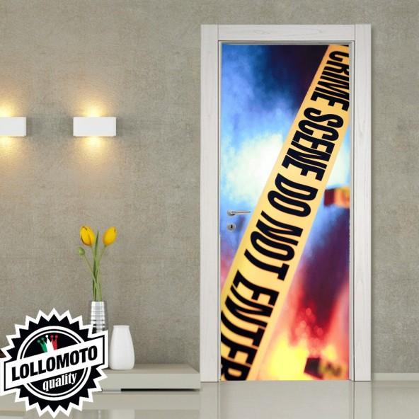 Adesivo Per Porta Scena Del Crimine Crime Pellicola Adesiva