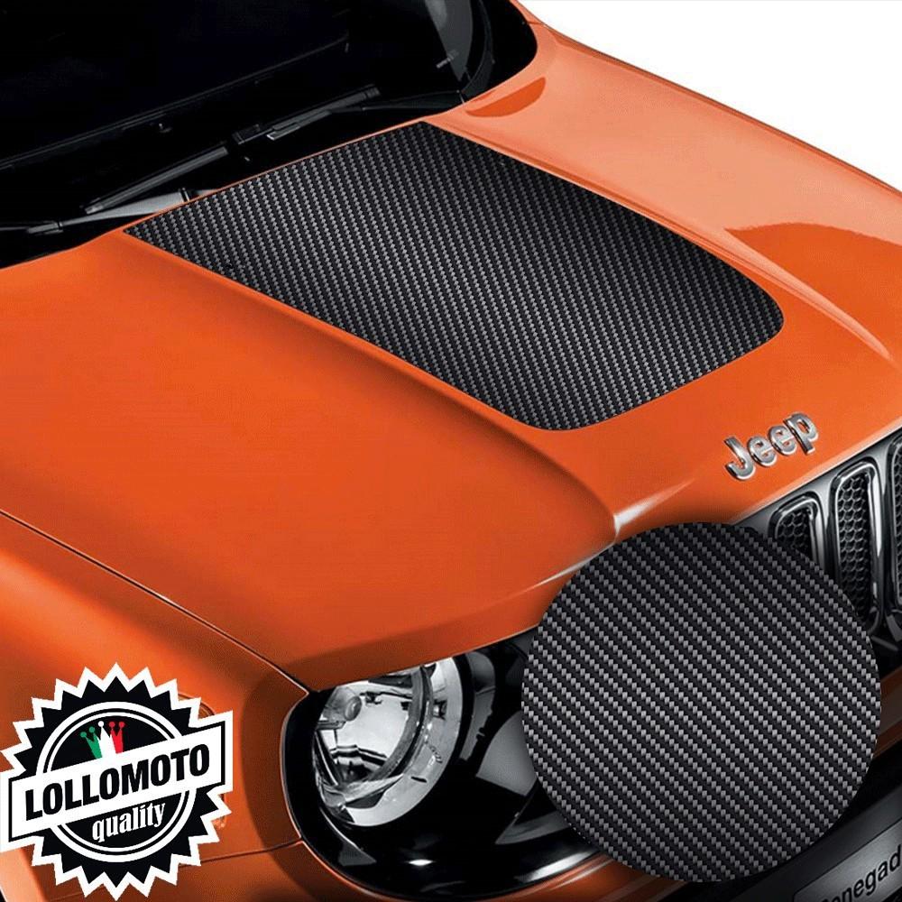 Striscia Adesiva Carbonio 3D Cofano Jeep Renegade Suzuki