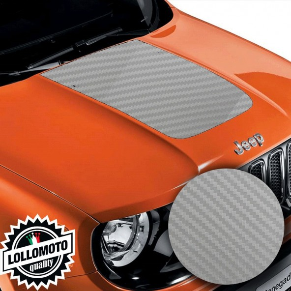 Striscia Adesiva Carbonio Grigio 3D Cofano Jeep Renegade Suzuki