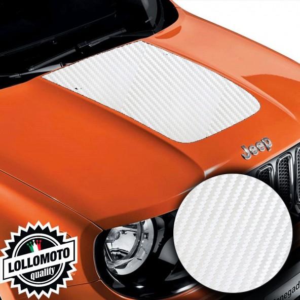 Striscia Adesiva Carbonio Bianco 3D Cofano Jeep Renegade Suzuki