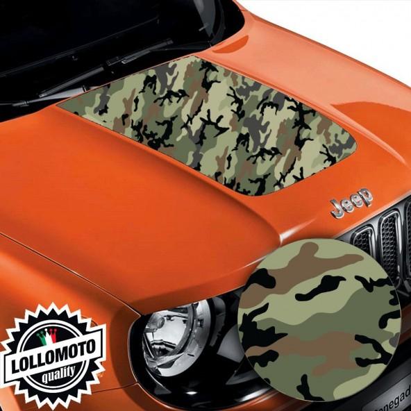 Striscia Adesiva Mimetico Italiano Cofano Jeep Renegade Offroad