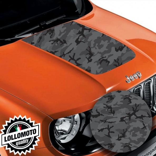Striscia Adesiva Mimetico Black Dark Line Cofano Jeep Renegade