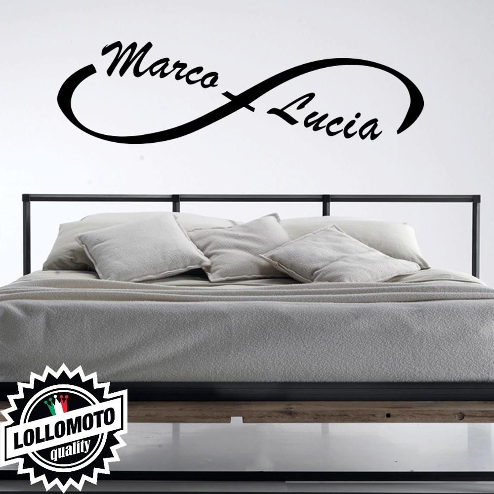 Adesivo Murale Amore Infinito Nomi Personalizzato Coppia Camera