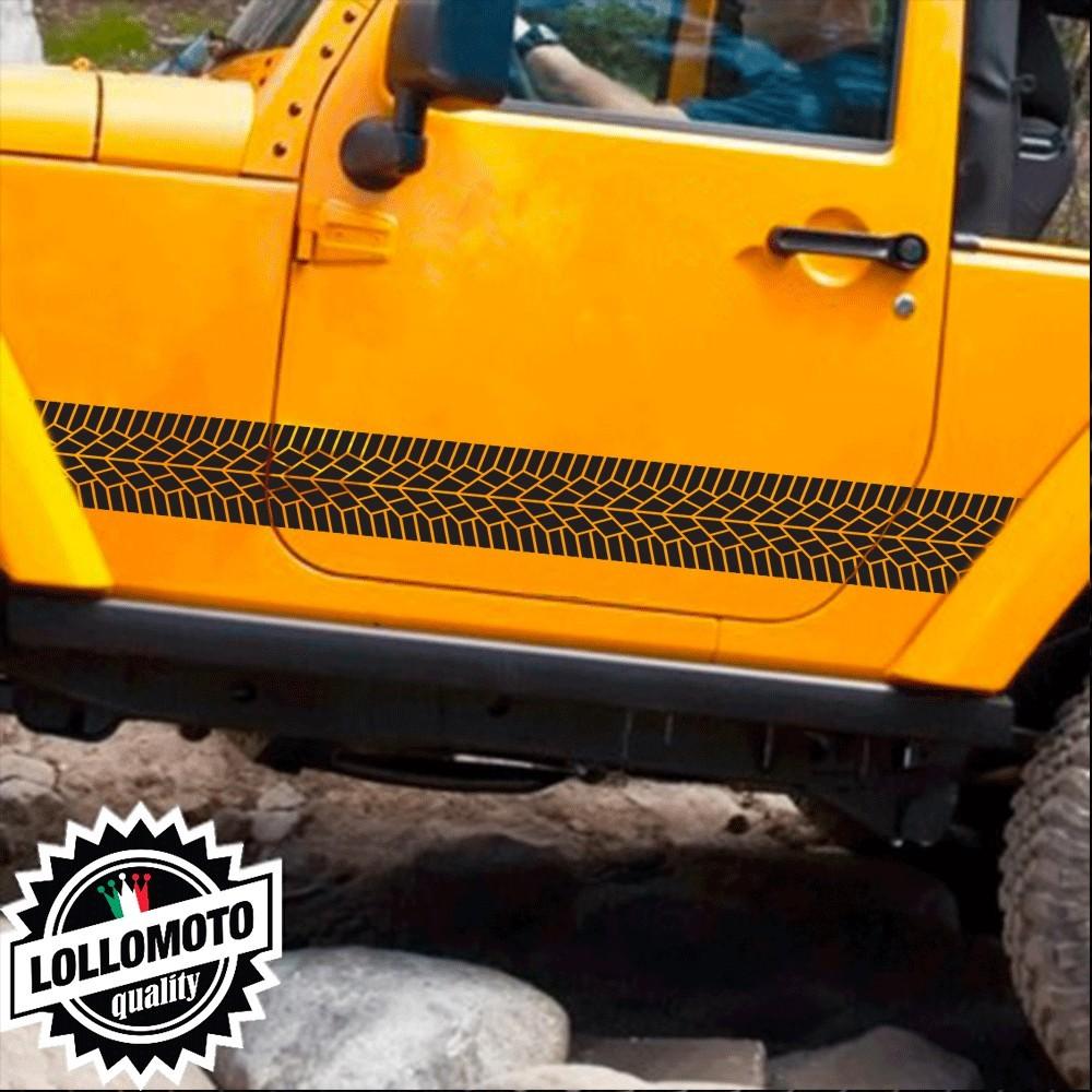 2x Strisce Texture Pneumatico Tyres 4x4 Off Road Fuoristrada