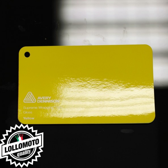 Dark Yellow Gloss Pellicola Car Wrapping Avery Dennison™ Supreme Wrapping Film Cast Professionale Adesiva