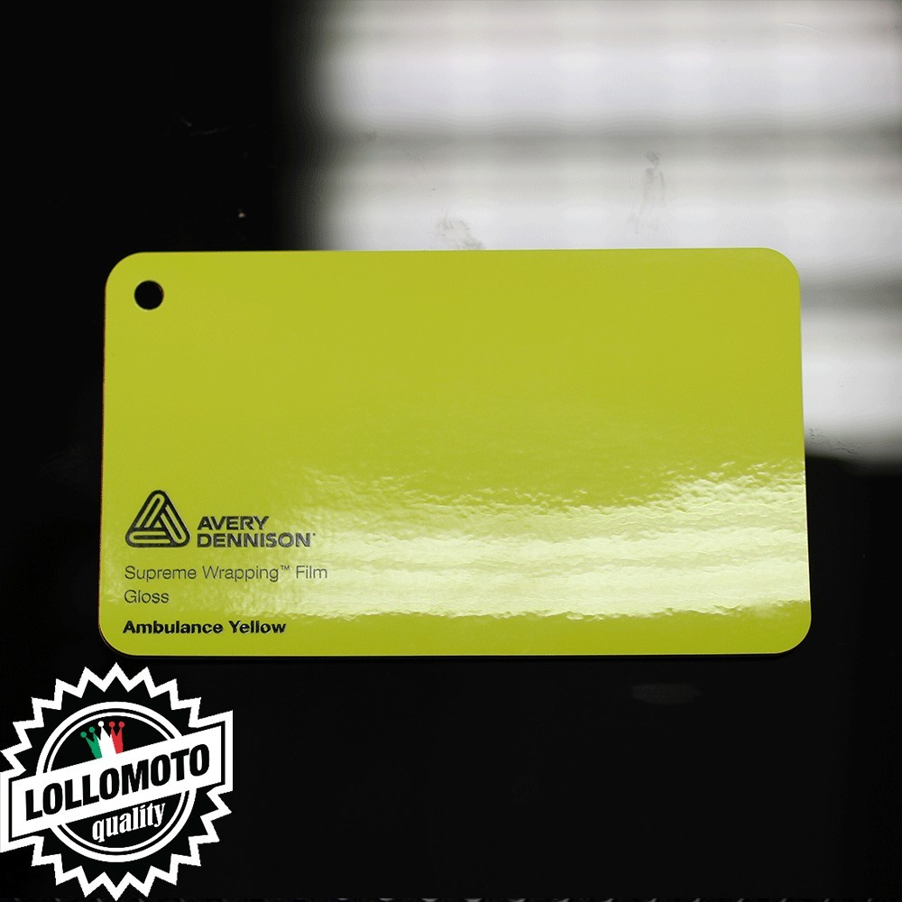 Yellow Gloss Pellicola Car Wrapping Avery Dennison™ Supreme Wrapping Film Cast Professionale Adesiva
