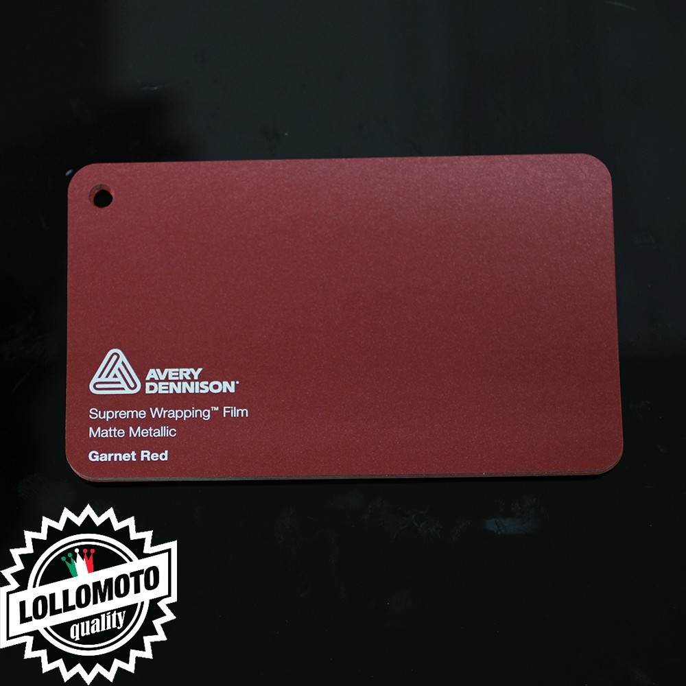 Burgundy Gloss Pellicola Car Wrapping Avery Dennison™ Supreme Wrapping Film Cast Professionale Adesiva