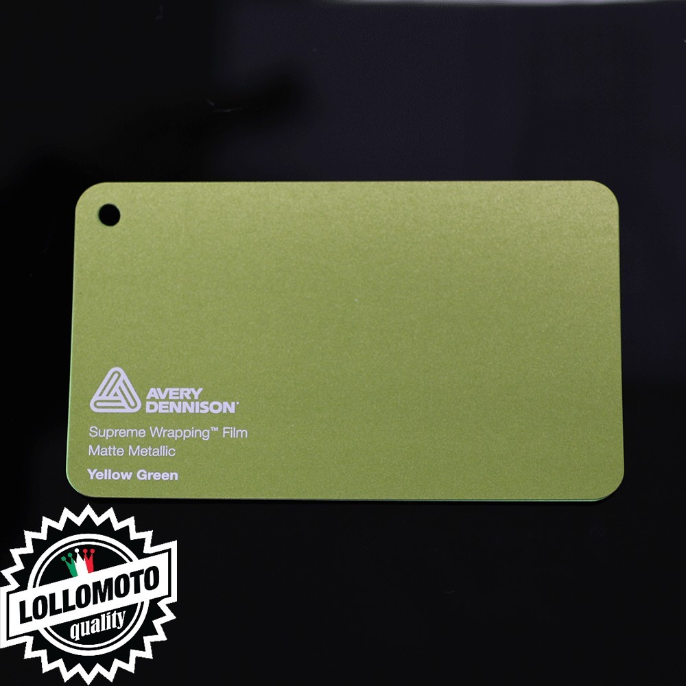 Lime Green Gloss Pellicola Car Wrapping Avery Dennison™ Supreme Wrapping Film Cast Professionale Adesiva