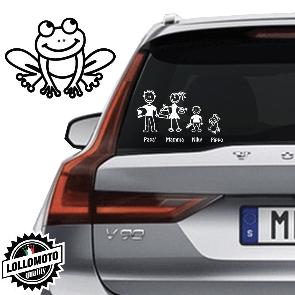Rana Vetro Auto Famiglia StickersFamily Stickers Family Decal