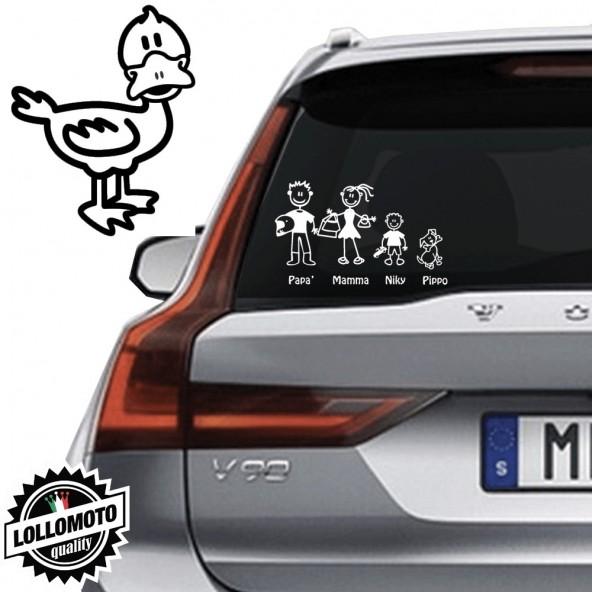 Papera Vetro Auto Famiglia StickersFamily Stickers Family Decal
