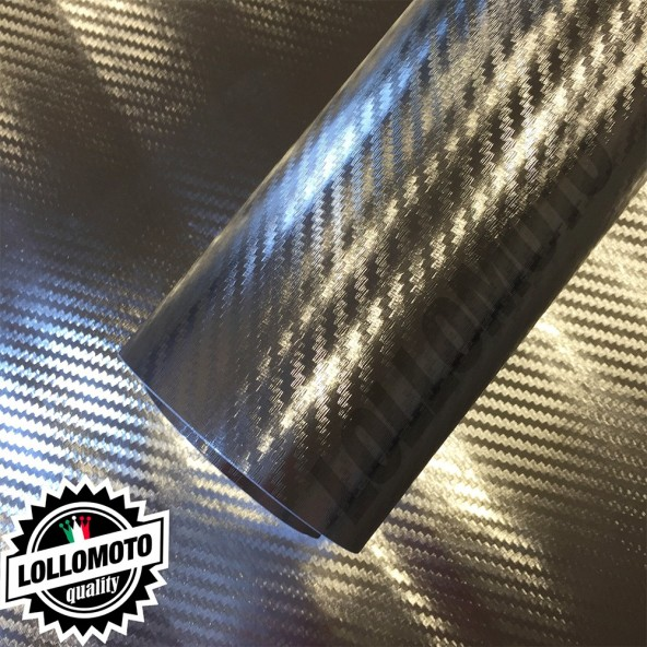 Carbonio 3D Cromato Pellicola Adesiva Rivestimento Auto Car Wrapping