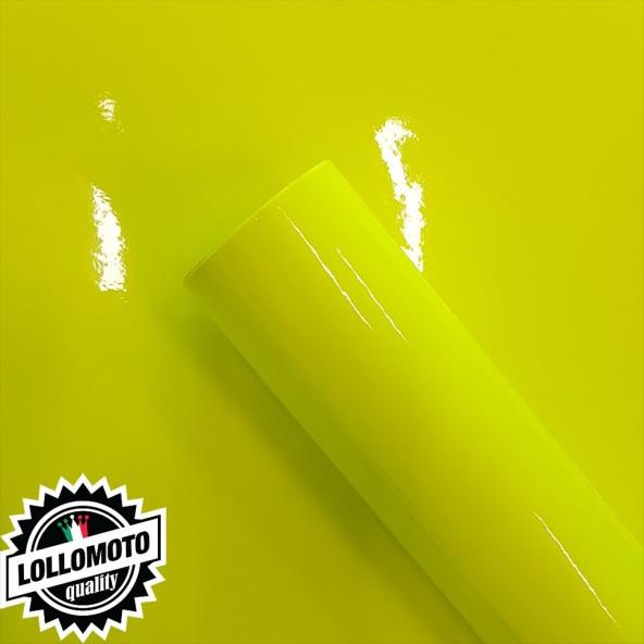 Giallo Fluo Pellicola Adesiva Car Wrapping Rivestimento Auto Moto Fluorescente