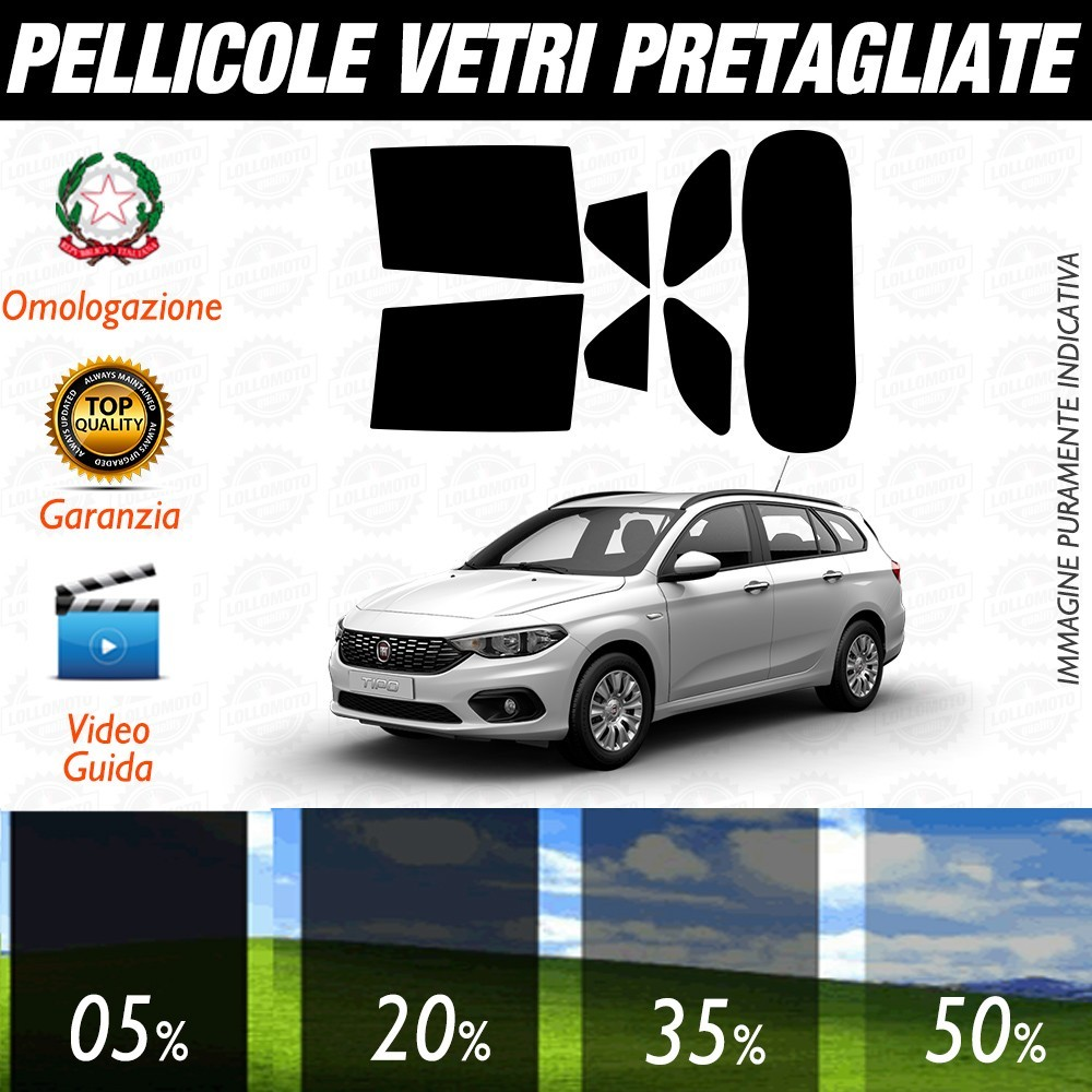 Fiat 500 07-16 Pellicole Oscuramento Vetri Auto Pre Tagliate a Misura