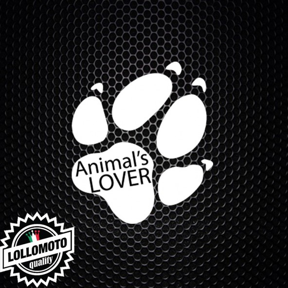 2x Adesivi Animal Lover Amante Animali A Bordo Auto Stickers Decal Intagliati Altissima Qualità