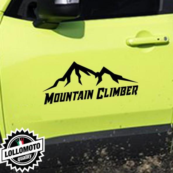 2x Adesivi Mountain Climber Offroad Fuoristrada Cacciatore Auto Stickers Decal Intagliati Altissima Qualità