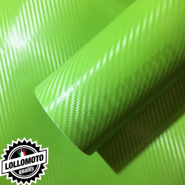 Carbonio 3D Verde Pellicola Adesiva Rivestimento Auto Car
