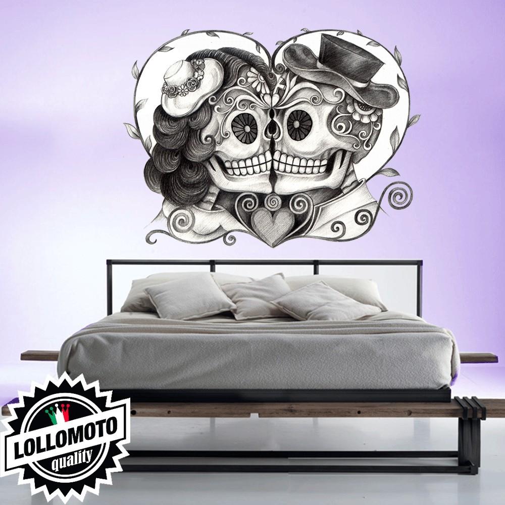 Teschi innamorati wall stickers adesivo murale arredamento for Interior design ufficio